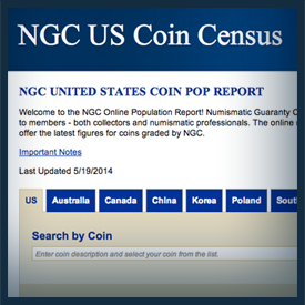 NGC US Coin Census